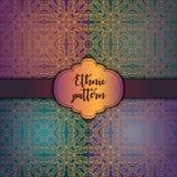 Teste padrão floral sem emenda do papel de parede real, fundo luxuoso Imagem de Stock