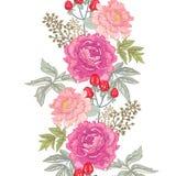 Teste padrão floral sem emenda do vetor Foto de Stock Royalty Free