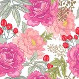 Teste padrão floral sem emenda do vetor Fotos de Stock