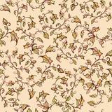 Teste padrão floral sem emenda do vetor com folhas e Fotografia de Stock Royalty Free