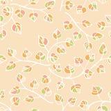 Teste padrão floral sem emenda do vetor com folhas e Fotos de Stock Royalty Free