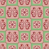 Teste padrão floral sem emenda do vetor com símbolo da borboleta ilustração do vetor