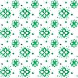 Teste padrão floral sem emenda do vetor verde da aquarela Ilustração Royalty Free