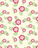 Teste padrão floral sem emenda em cores cor-de-rosa Imagem de Stock Royalty Free