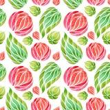 Teste padrão floral sem emenda em um fundo branco ilustração royalty free