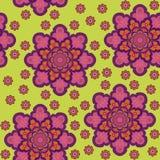 Teste padrão floral sem emenda em um fundo verde Fotografia de Stock