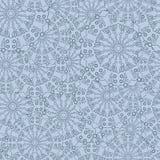 Teste padrão floral sem emenda intrincado Repetindo o fundo com sobreposição de flores azuis Fotos de Stock