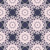 Teste padrão floral sem emenda Luz - flores cor-de-rosa na obscuridade - fundo azul Imagens de Stock