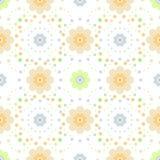 Teste padrão floral sem emenda no fundo branco Foto de Stock