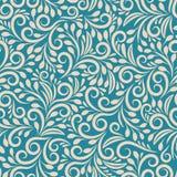 Teste padrão floral sem emenda no fundo uniforme Foto de Stock Royalty Free