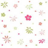 Teste padrão floral sem emenda, papel de parede Fotos de Stock Royalty Free