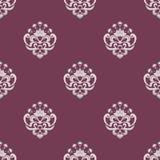 Teste padrão floral sem emenda roxo e bege Fotografia de Stock