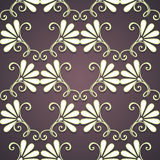 Teste padrão floral sem emenda (vetor) Fotos de Stock Royalty Free