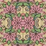 Teste padrão floral sem emenda (vetor) Imagem de Stock Royalty Free