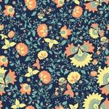 Teste padrão floral Teste padrão sem emenda de matéria têxtil do vintage cópia Fotografia de Stock