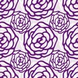 Teste padrão floral Teste padrão sem emenda do vetor de Rosa A textura pode ser usada para imprimir na tela ou o papel e fundo no Fotos de Stock Royalty Free