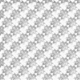 teste padrão floral textured preto e branco Imagens de Stock Royalty Free