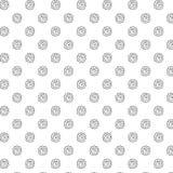 Teste padrão floral tirado mão/ imagens de stock royalty free