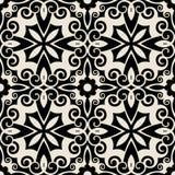 Teste padrão floral tradicional Foto de Stock