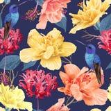 Teste padrão floral tropico Imagem de Stock