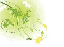 Teste padrão floral verde ilustração do vetor