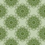 Teste padrão floral verde Fundo sem emenda com flores Imagem de Stock Royalty Free