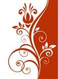 Teste padrão floral vermelho Fotos de Stock Royalty Free