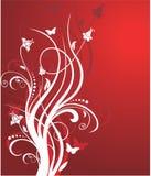 Teste padrão floral vermelho Fotos de Stock