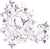 Teste padrão floral violeta Imagens de Stock Royalty Free