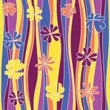 Teste padrão florido abstrato sem emenda. Imagens de Stock Royalty Free