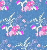 Teste padrão flowers Imagens de Stock Royalty Free