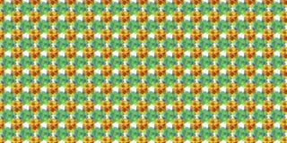 Teste padrão - folhas coloridas Foto de Stock Royalty Free