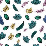 Teste padrão fresco da folha ilustração stock