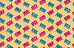 Teste padrão/fundo sem emenda da audiocassette Imagens de Stock