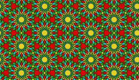 Teste padrão/fundo sem emenda do vetor da flor do mosaico Foto de Stock Royalty Free