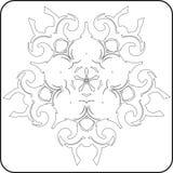 Teste padrão gótico das curvas ilustração royalty free