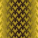Teste padrão gótico do ouro sem emenda ilustração stock