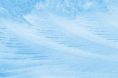 Teste padrão gelado no vidro Foto de Stock