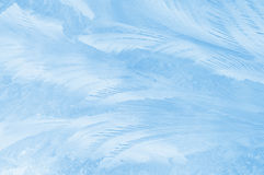 Teste padrão gelado no vidro Fotos de Stock