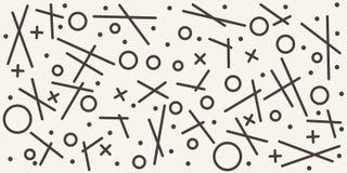 Teste padrão geométrico abstrato com formas esboçadas diferentes Fundo sem emenda do vetor ilustração stock