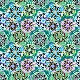 Teste padrão geométrico abstrato do pixel ilustração royalty free