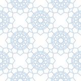 Teste padrão geométrico abstrato Fundo sem emenda azul e branco da luz - Fotos de Stock
