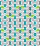 Teste padr?o geom?trico abstrato linear sem emenda branco e verde da estrutura do favo de mel no fundo cinzento para a tela, pape ilustração stock