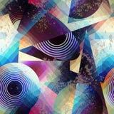 Teste padrão geométrico abstrato no estilo do cubismo Fotos de Stock Royalty Free