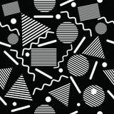 Teste padrão geométrico abstrato sem emenda no estilo retro de memphis ilustração do vetor