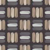 Teste padrão geométrico abstrato sem emenda A textura das tiras brushwork Choque da mão Textura do garrancho Imagens de Stock