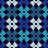 Teste padrão geométrico abstrato sem emenda A textura das tiras brushwork Choque da mão Textura do garrancho Foto de Stock