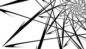 Teste padrão geométrico abstrato sob a forma de uma espiral Fundo moderno sob a forma de uma Web de aranha ilustração do vetor