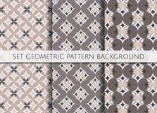 Teste padrão geométrico ajustado no fundo da cor Fotos de Stock Royalty Free