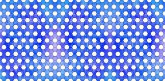 Teste padrão geométrico azul da aquarela Foto de Stock